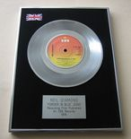 NEIL DIAMOND - FOREVER IN BLUE JEANS Platinum single presentation Disc